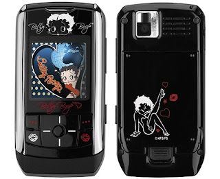 Betty Boop pictures all over a Samsung phone