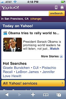 Yahoo! Announces new Yahoo! Mobile for iPhone and Other Mobile Devices
