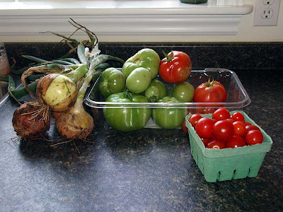 The garden has done very well this year. Lots of produce and nice and early, too.