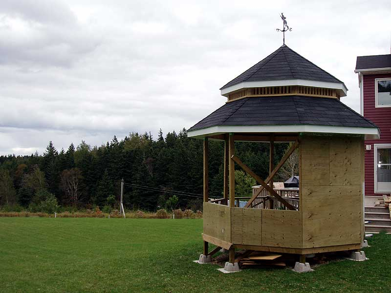 The witch 39 s island cost of building a gazebo for Average cost to build a pavilion