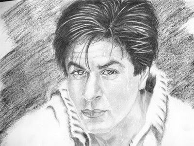 Pencil sketch of celebrities