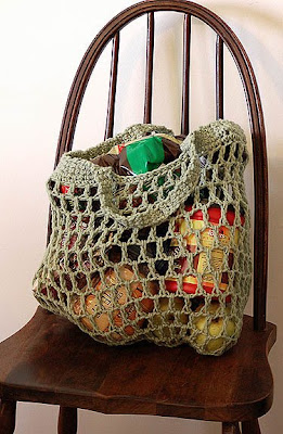 Free Crochet Patterns For Grocery Bags : The Adventures of Cassie: Free Reusable Crocheted Grocery ...