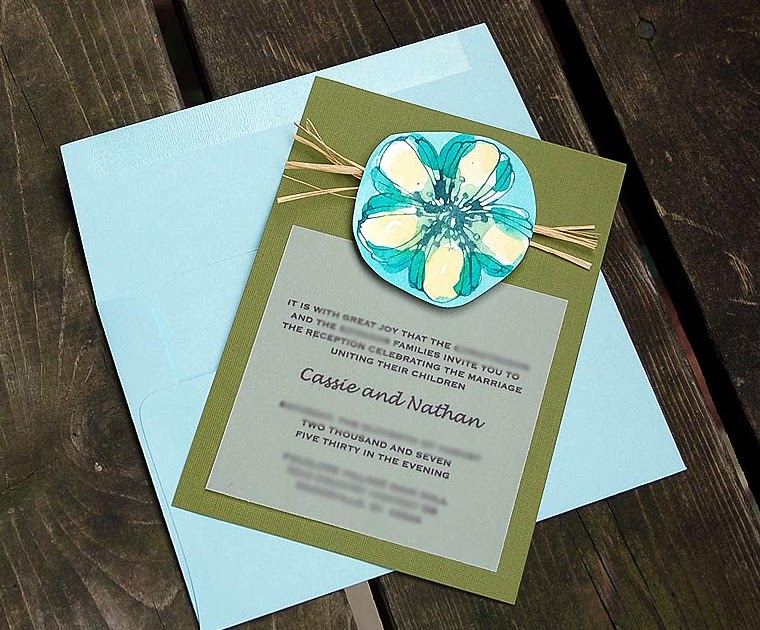 The Adventures Of Cassie DIY Watercolor Wedding Invites