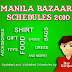 Manila Bazaar Schedules 2010