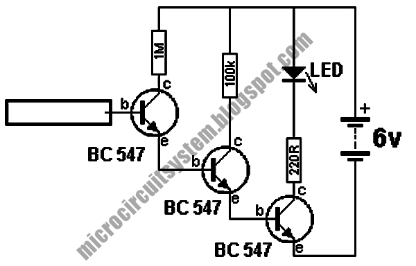 electric field detector circuit using 6 million gain