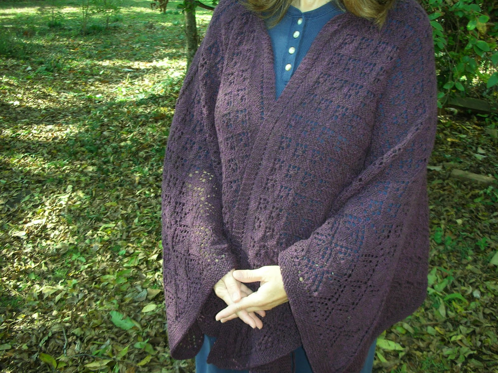lines... in pleasant places: Irish Diamond Lace Shawl - finished