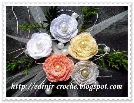 flores em croche enroladas da coleção aprendi e ensinei com edinir-croche dvd videos aulas blog loja