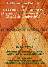"""Encuentro Otoño 2009 - Lema: """"METÁFORAS CONTRA EL FUEGO INÚTIL"""""""