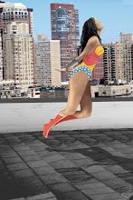 Boceto Digital (Wonder Woman) concebido como una instantánea