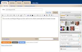 Zemanta 4 How to add Related Content gadget to your blog post editor using Zemanta API