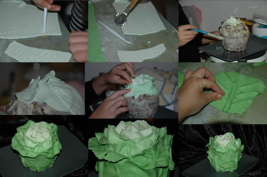 Как сделать торт капуста из крема