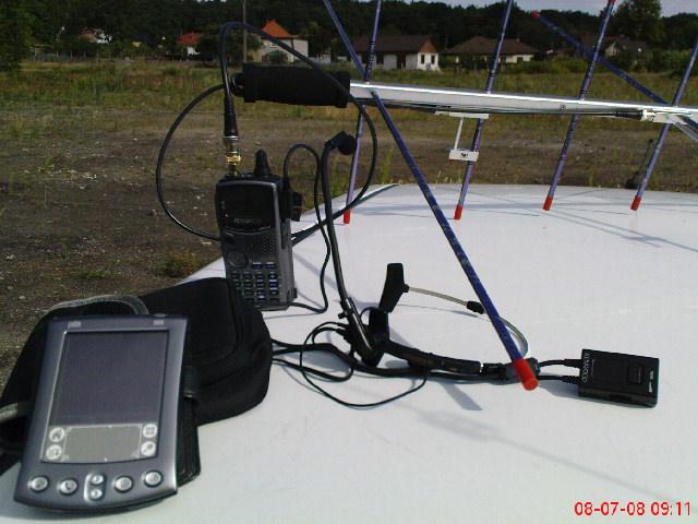 Aktualna moja konfiguracja do łączności via satelity w terenie.