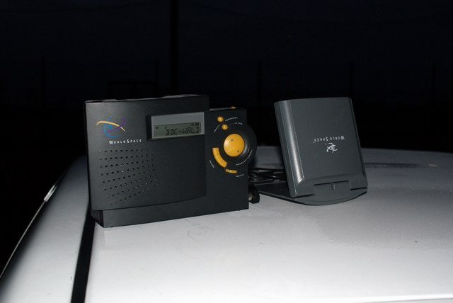WORLDSPACE Satelitarne radio cyfrowe nad. na  1.5 GHz odbierane z satelity Afristar 21E