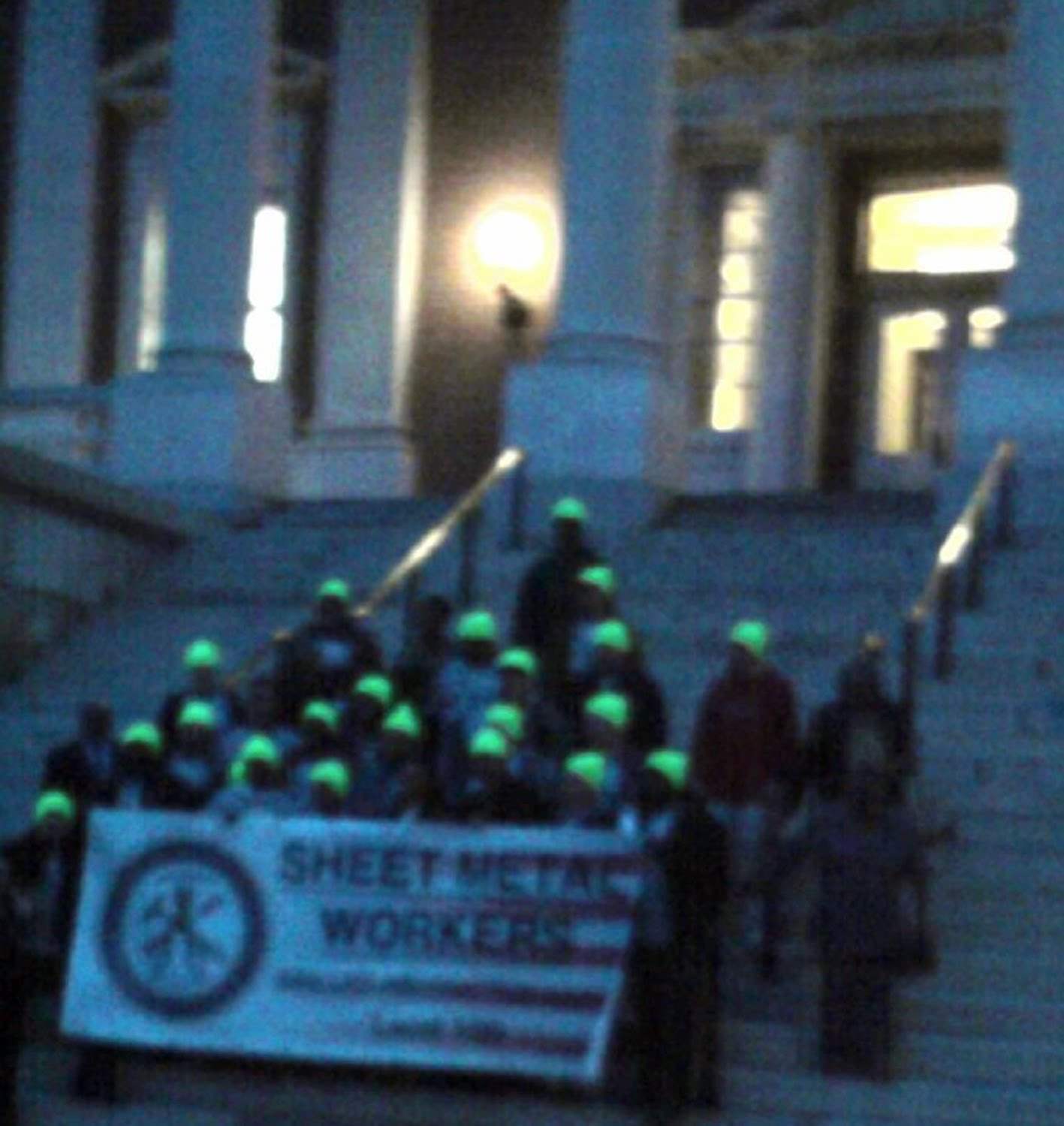 Union rally at lawyers mall on monday hosted an energetic crowd of