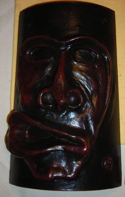 Tegola con maschera riproduzione  Merdules