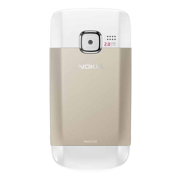 Nokia C3 White And Gold