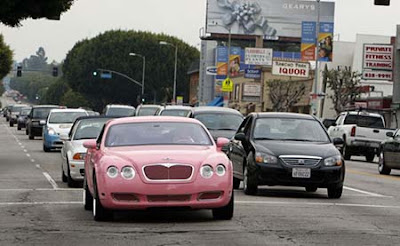Paris Hilton Car Pink Bentley