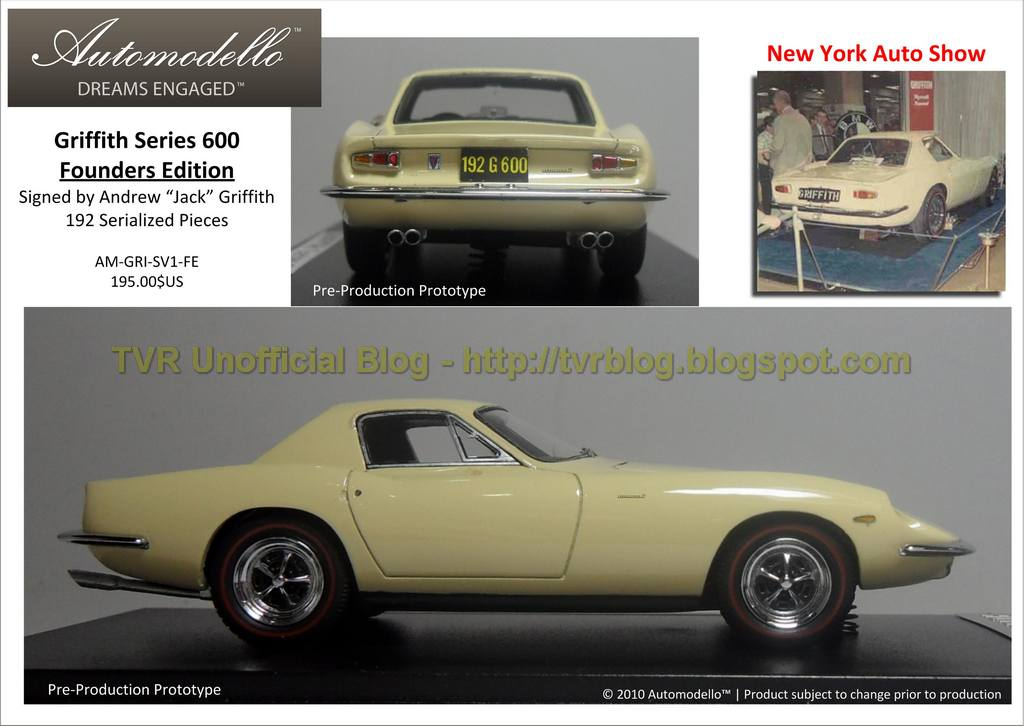 tvr unofficial blog automodello griffith series 600 on the way. Black Bedroom Furniture Sets. Home Design Ideas