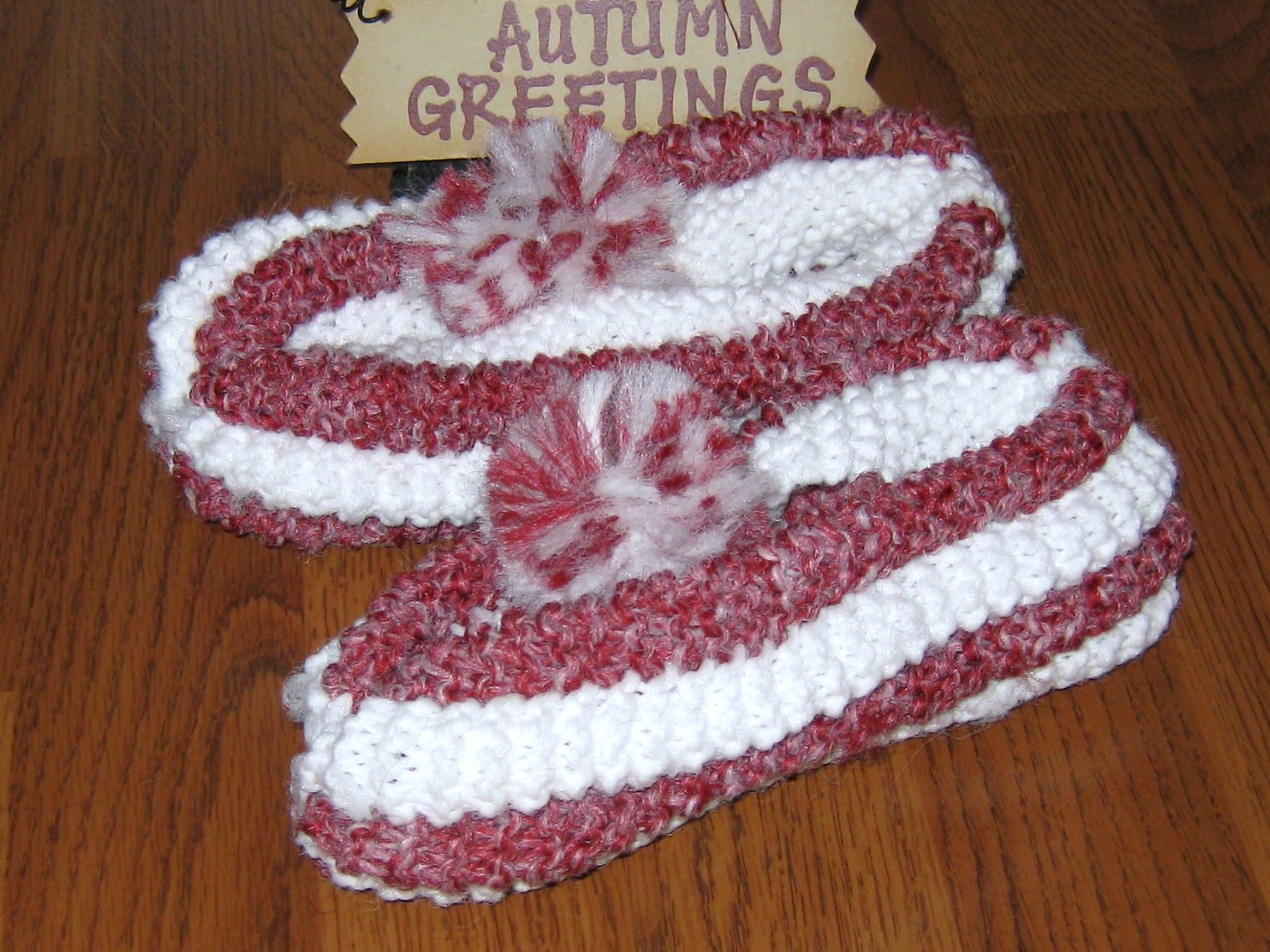 Slipper Patterns Knitting : An Island Girl: Phentex slippers