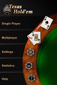 texas hold em app menu screen