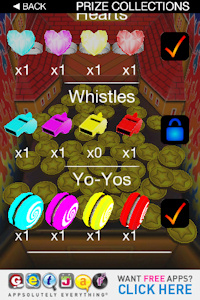 Coin Dozer unlock power ups by collecting prizes
