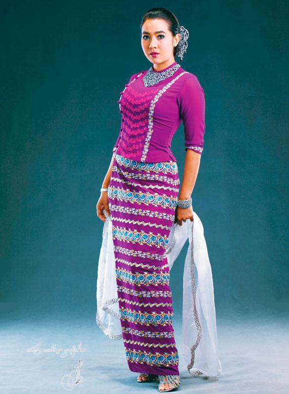 Myanmar actresses in beautiful myanmar fashion dresses myanmar movie