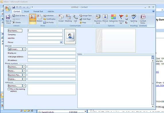 how to create address book in outlook 2010
