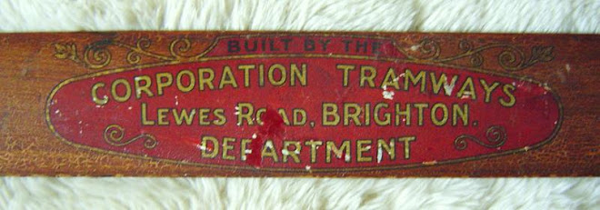 badge from a brighton Tram, showing it built by the Corporation!