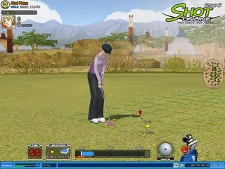 Shot-Online is a massively multiplayer online golf game produced by OnNet Entertainment. Introduced in 2004, Shot-Online combines the features of a traditional PC golf game with the virtual world and interactivity of a MMORPG. The game is free to download and requires no subscription fees, but you have the option to purchase a variety of usable game items from the game's website. On regular occasions Shot-Online runs tournaments which involve worldwide competition for game items, game currency and/or real cash.