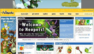  Neopets is a fun virtual pet site. You can create your own Neopets, feed them, groom them, look after them, customise them and watch them grow. You can also communicate on the Neoboards, play games, create your own Web pages, send Neomail, and lots more.