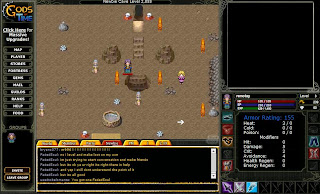 Gods of Time is a Massivly Multiplayer Role Playing Browser-based Game in which you are chosen to defeat the Gods guarding the gateway many crucial periods in time. You will meet many players, fight hunderds of creatures and explore vast areas in your journey to obtain items of incredible value and power.