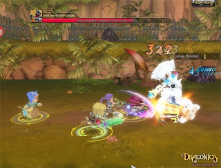 Dragonica, is a free-to-play arcade-style 3D side-scrolling MMORPG developed by Barunson Interactive. It is available in English, German and French. With original keyboard-controlled gameplay, a vibrant 3D universe and plenty of tongue-in-cheek humour along the way, Dragonica has universal appeal by attracting all types of people the game has lots of fun and interesting content to keep players busy.