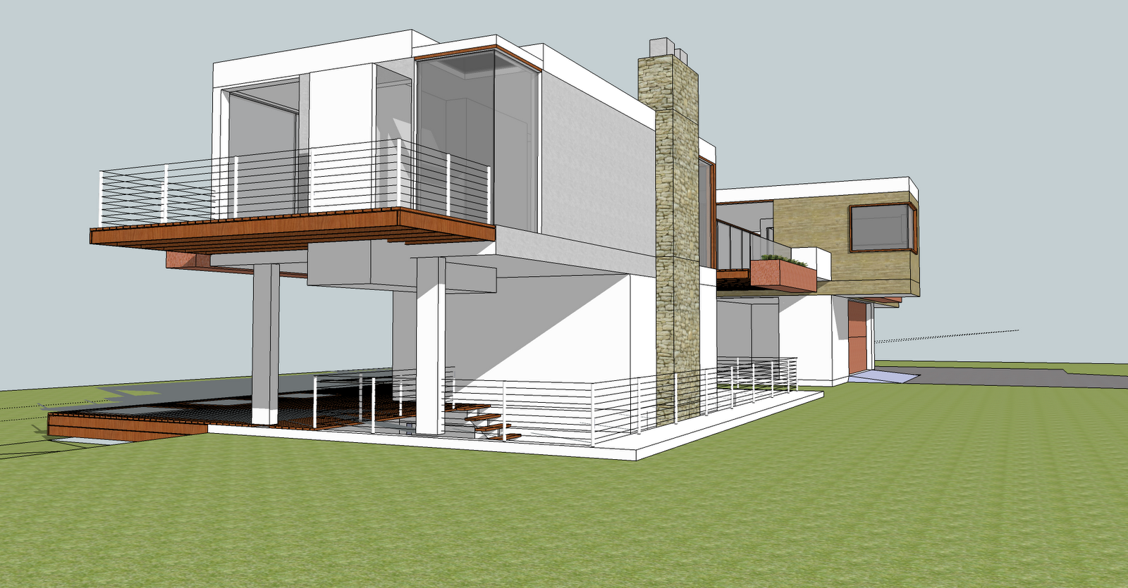 Top Modern Linear House Design 1600 x 835 · 1195 kB · png