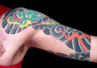 dragon tattoo art in shoulder
