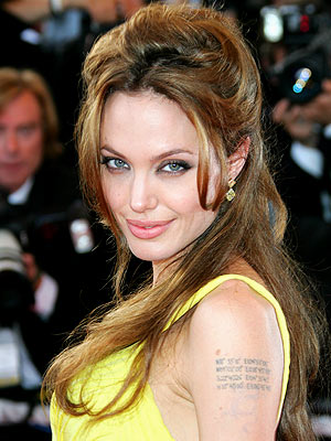 Angelina Jolie Tattoos But, before she met Mr. Pitt, Ms. Jolie confessed