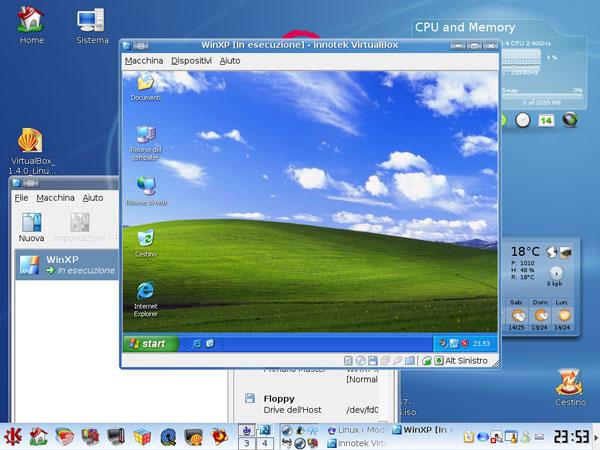 Contoh Tampilan VirtualBox