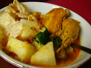 Indonesian Chiken Curry Recipe ( Resep Lontong Kari Ayam)