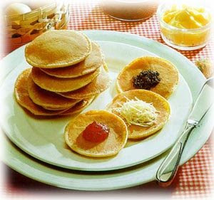 Pancakes with Honey & Yoghurt Recipe ( Resep Pancake )