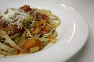 Fettuccini Bolognese Sauce Recipe (Resep Fetucini Saus Bologna)