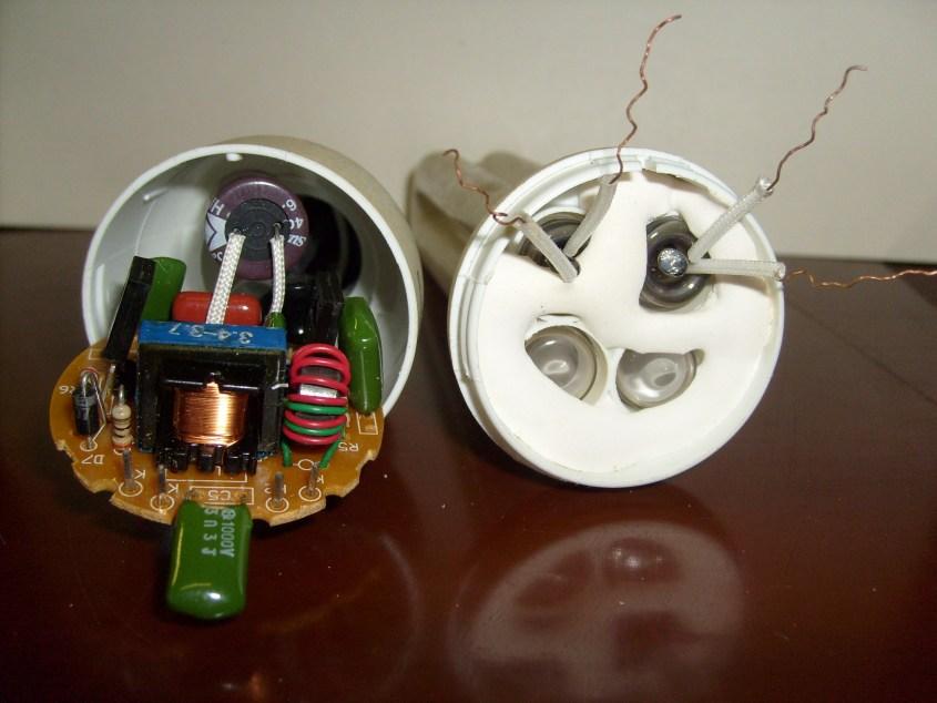 Из энергосберегающих ламп своими руками