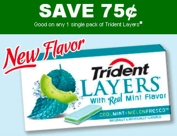 graphic about Trident Coupons Printable referred to as TRIDENT: Refreshing $0.75 Off Levels Gum Coupon! Coupon Qualified