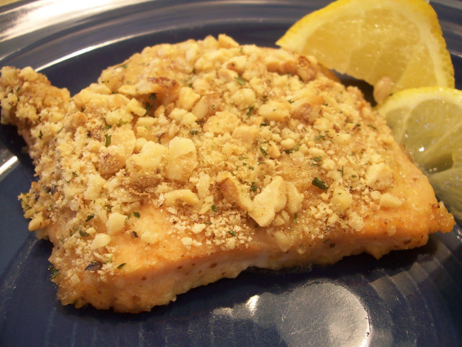 Recipe Keeper: Alaska Salmon Bake with Pecan Crunch Coating