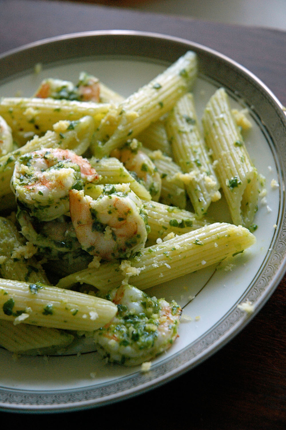 sprinkle with additional lemon zest and parmesan cheese and serve