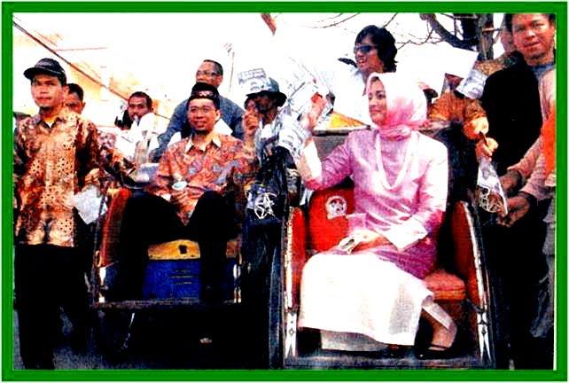 Pilkada Banten 2006, Marissa Haque dalam Kayuhan Becak Ikang Fawzi, Mendampingi. Zulkieflimansyah