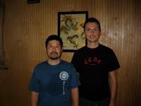 Nathan Heintz with Master Chen Zhonghua