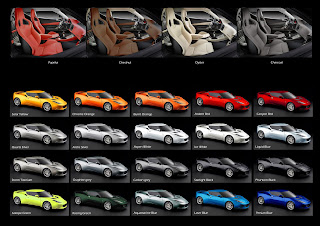 Lotus Enthusiast  Official Lotus Evora colour chart