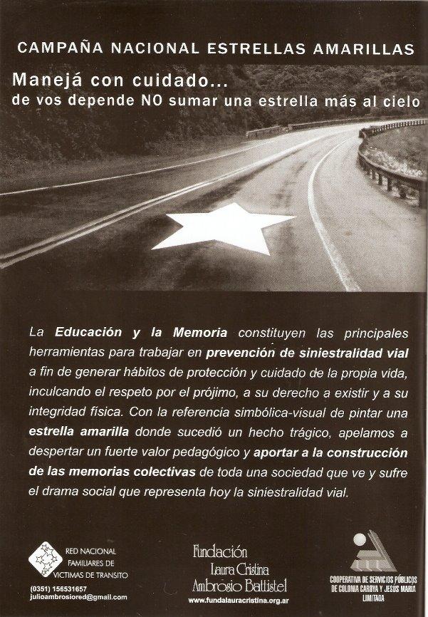 Campaña Nacional Sobre accidentes de tránsito