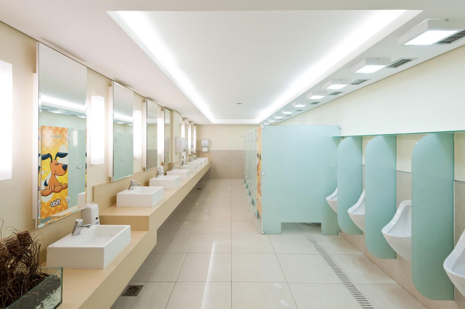 Arquiteto Daltônico: Novos banheiros do Taguatinga Shopping #9F6D2C 1600 1064