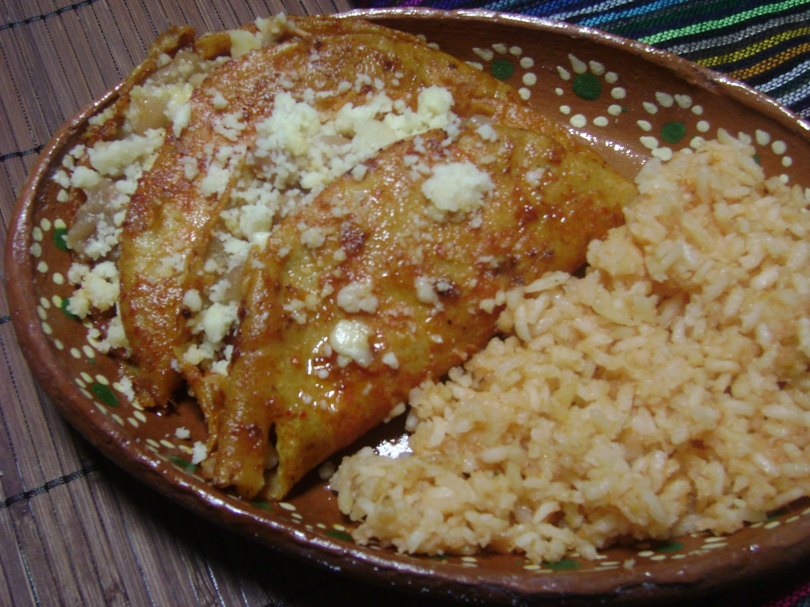 La Cocina de Leslie: Bean and Cheese Enchiladas