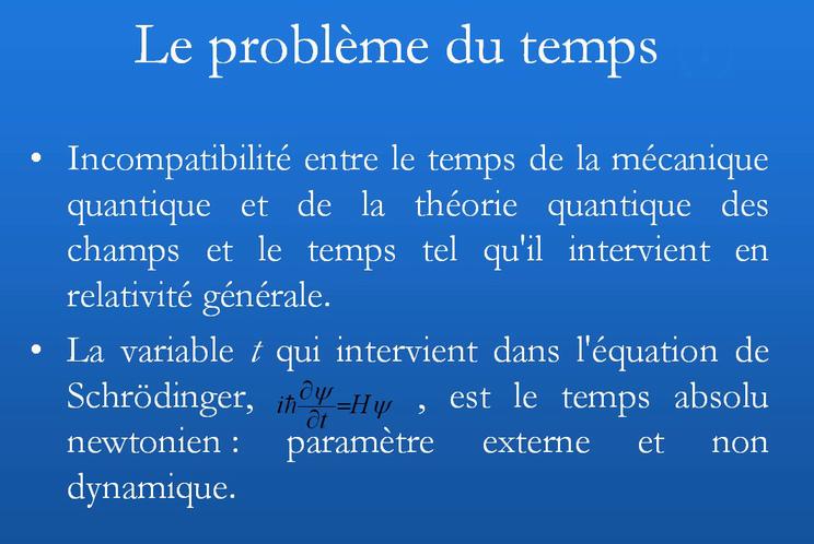 Le problème du temps – Alexis de Saint-Ours